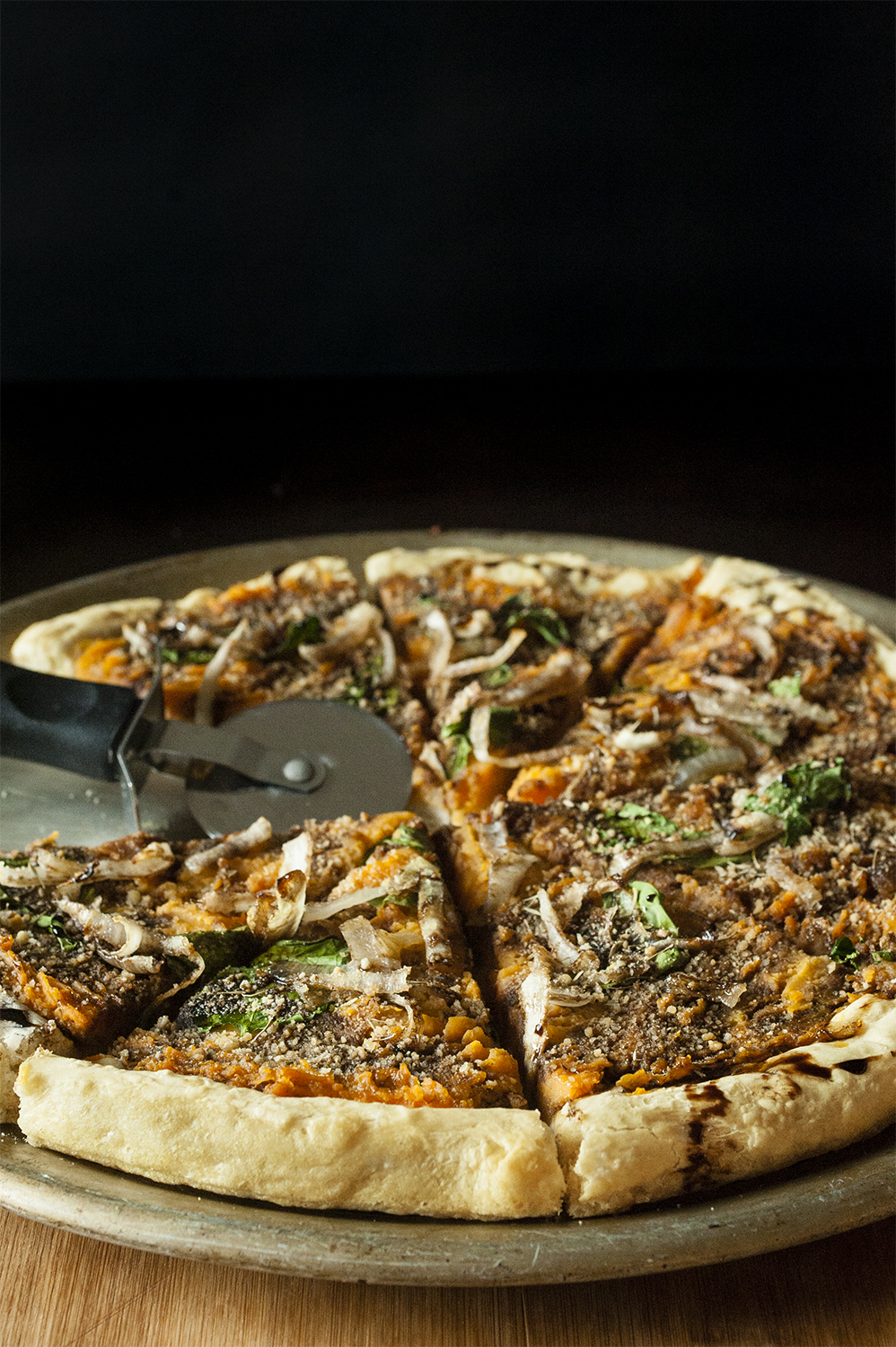 Sweet Potato Onion Pizza