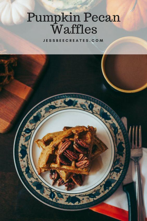 Pumpkin Pecan Waffles Recipe