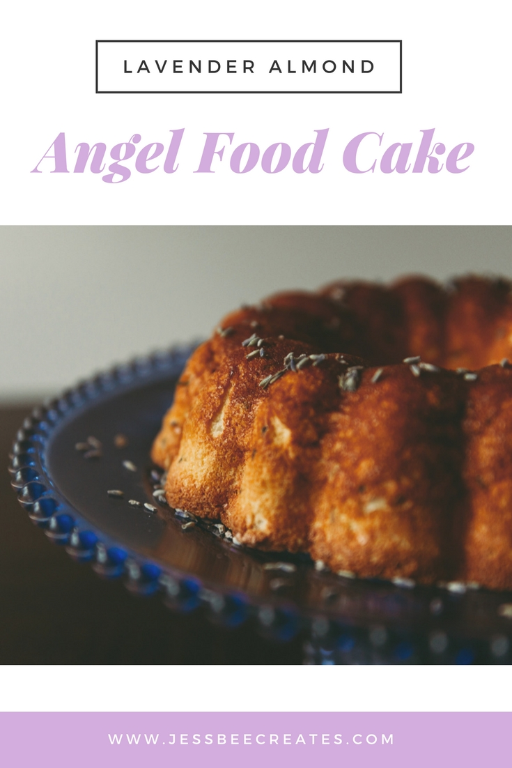 Lavender Almond Angel Food Cake Recipe