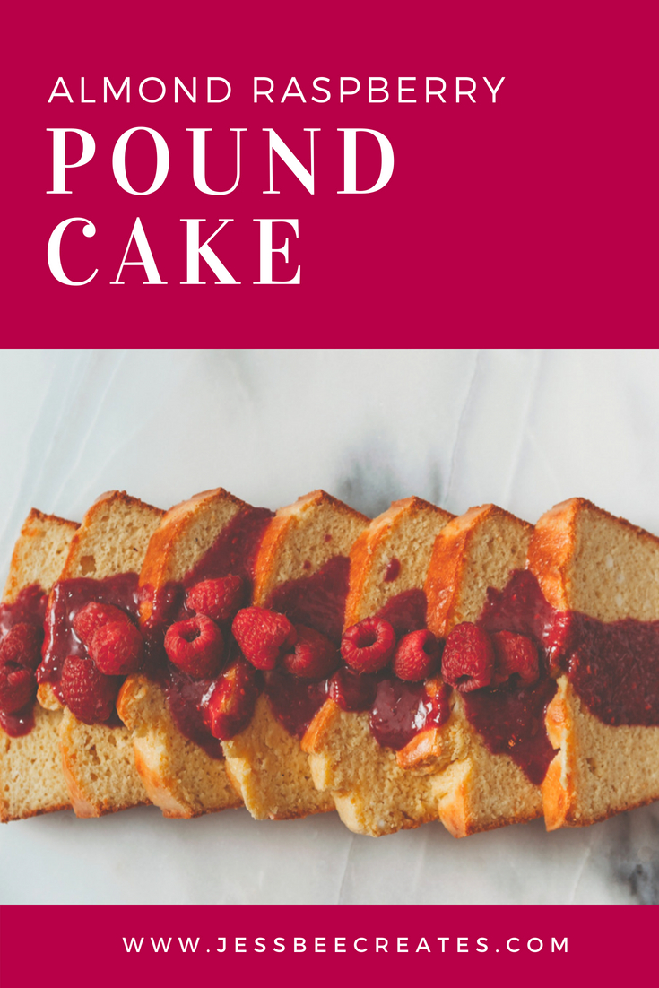 Almond Raspberry Pound Cake