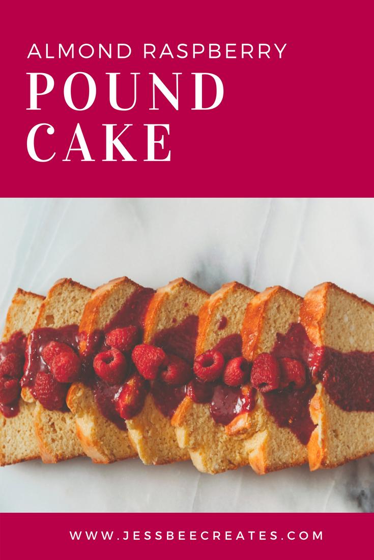 Almond Raspberry Pound Cake