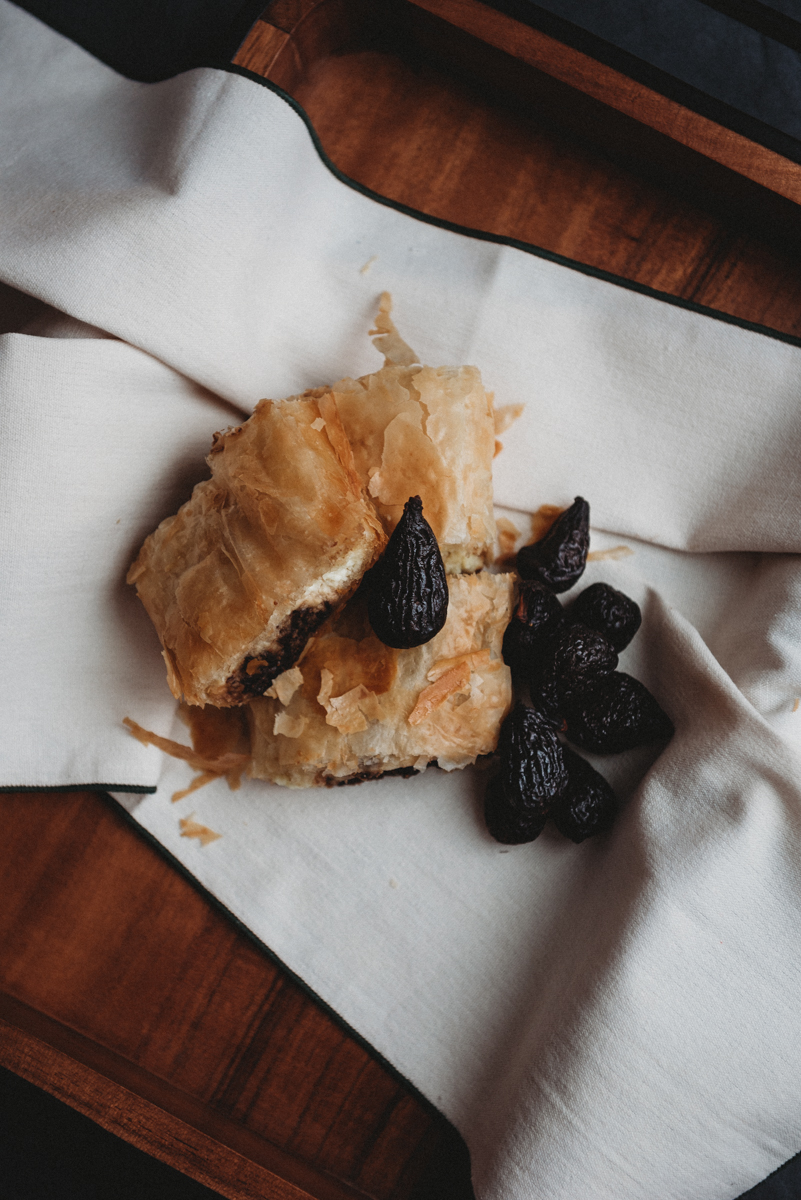 Cheese and Fig Strudel