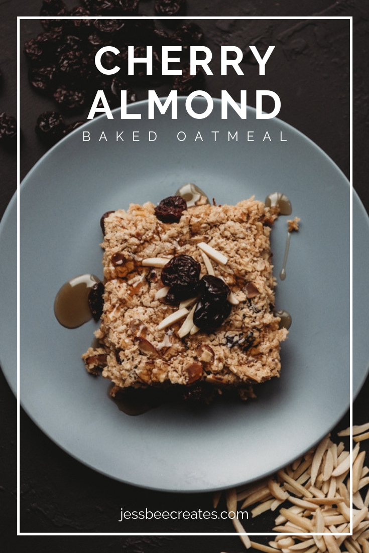 Cherry Almond Baked Oatmeal