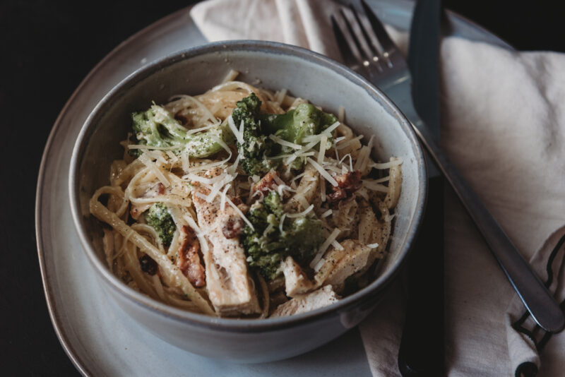 Chicken Bacon Broccoli Alfredo Recipe