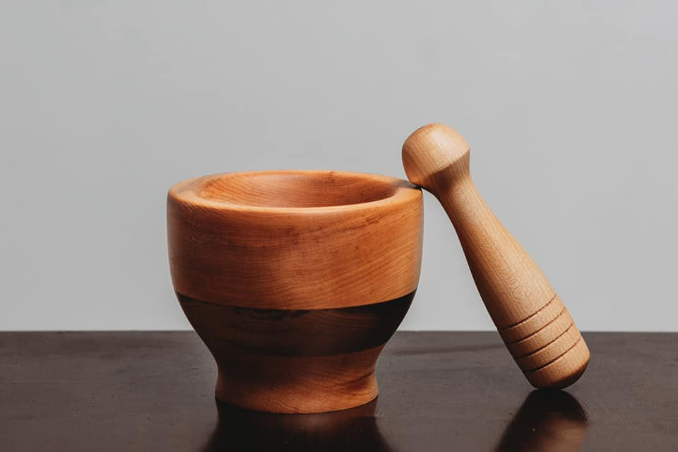 Mortar and Pestle - Lathe - Wood turning